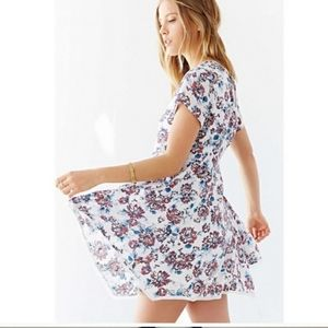 Silence + noise- Witchy floral mini dress